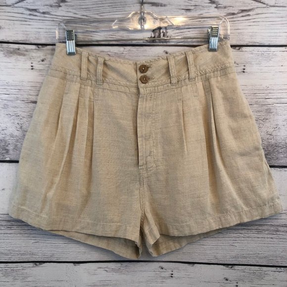 Free People Pants - Free People High Rise Pleated Shorts Womens Small